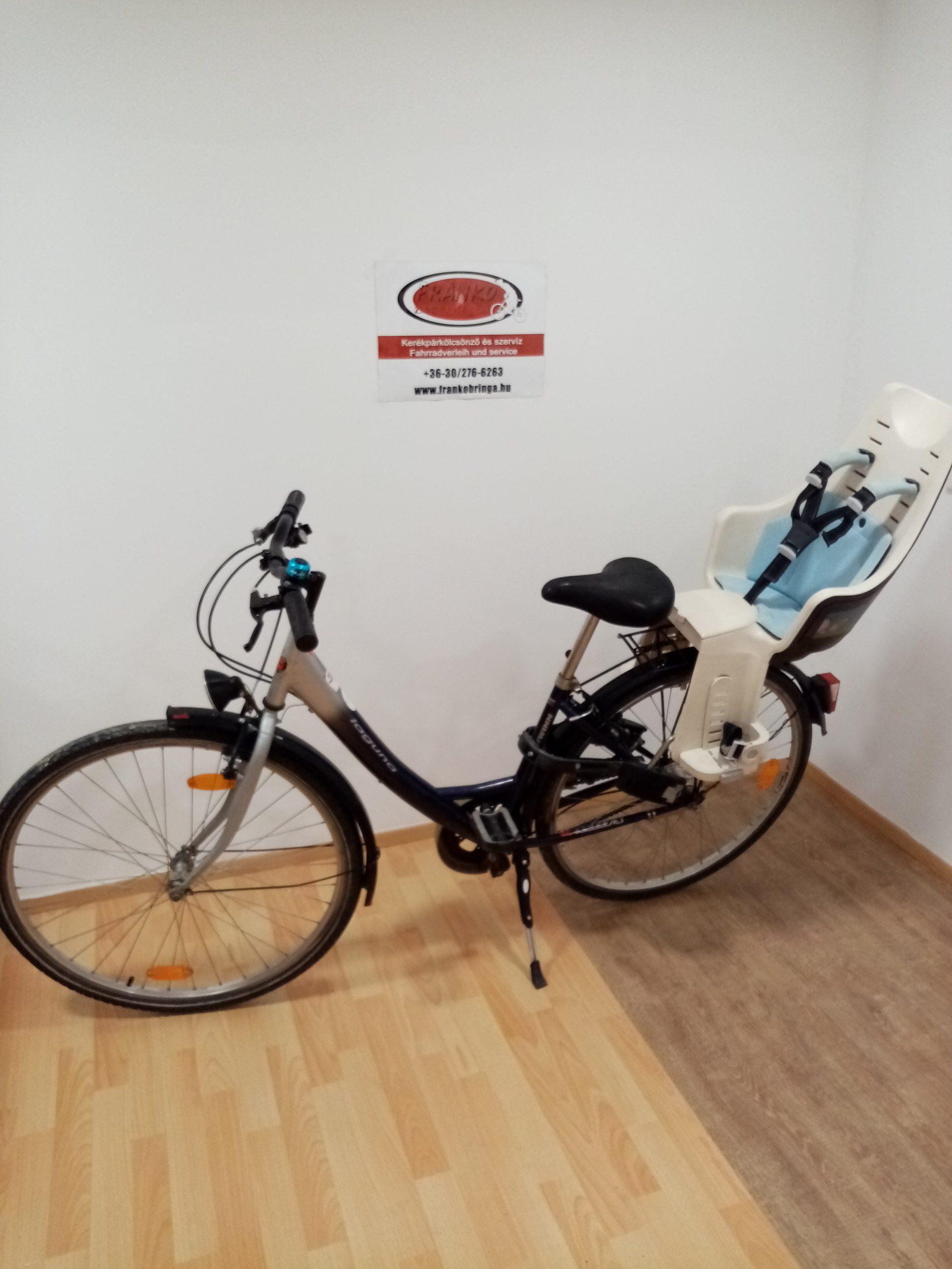 28″ Női kerékpár + Gyerekülés – Azonosító: #04